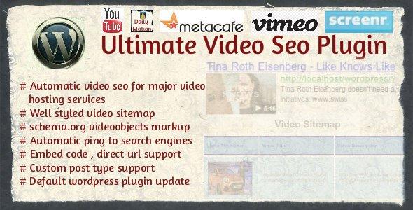 سئوی ویدئو در وردپرس با افزونه Ultimate Video Seo