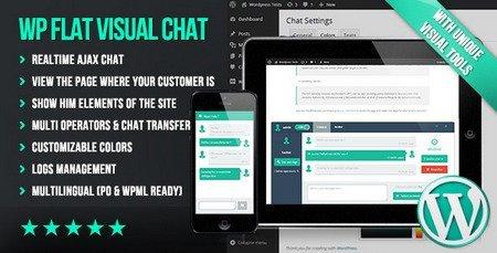 چت و گفتگوی آنلاین با مشتریان در وردپرس با افزونه Wp Flat Visual Chat