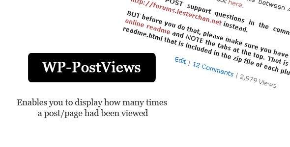 نمایش تعداد بازدید مطالب در وردپرس با افزونه Wp-postviews