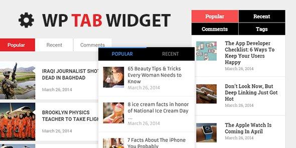 نمایش تب های مطالب در وردپرس با افزونه WP Tab Widget