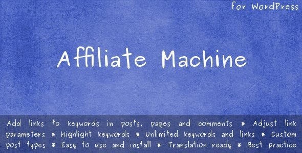 لینک دار کردن خودکار کلمات در وردپرس با افزونه Affiliate Machine