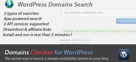 چک کننده دامین در وردپرس با افزونه Domain Checker For WordPress