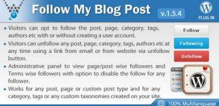 دنبال کردن رویداد های مطالب در وردپرس با افزونه Follow my blog post