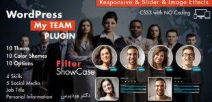 نمایش تیم کاری در وردپرس با افزونه My Team Showcase