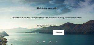 ساخت صفحه در دست بروز رسانی در وردپرس با افزونه wp Maintenance Mode