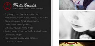 ایجاد گالری تصاویر در وردپرس با افزونه MediaBlender
