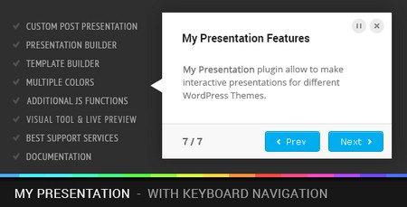 ارائه توضیحات بخش های مختلف سایت وردپرسی با افزونه My Presentation