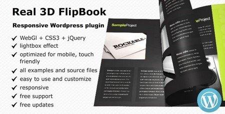 نمایش و ایجاد سه بعدی کتاب در وردپرس با افزونه Real 3D Flipbook