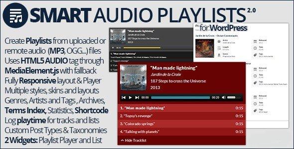 پخش کننده هوشمند موسیقی در وردپرس با افزونه Smart Audio Playlists