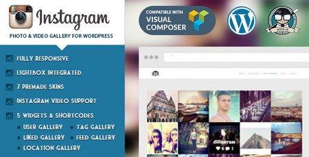 نمایش آخرین ارسالی ها اینستاگرام در وردپرس با افزونه Instagram Photo and Video Gallery