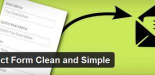 ایجاد فرم تماس در وردپرس با افزونه Contact Form clean and Simple