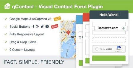 ایجاد انواع فرم حرفه ای در وردپرس با افزونه QContact Form Builder