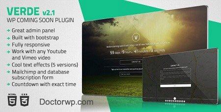 نمایش سایت به صورت در دست تعمیر وردپرس با افزونه Verde