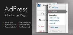 مدیریت حرفه ای تبلیغات در وردپرس با افزونه Adpress