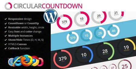 شمارش معکوس در وردپرس با افزونه CodeGrape Circular Countdown