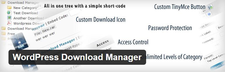 افزونه رمزگذاری لینک دانلود download-manager-wordpress