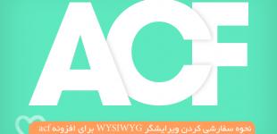 نحوه سفارشی کردن ویرایشگر WYSIWYG برای افزونه acf