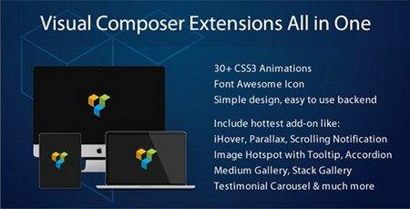 دانلود افزونه Visual Composer Extensions All in one برای وردپرس