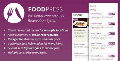 مدیریت سایت رستوران وردپرس با افزونه Foodpress