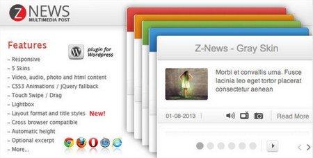 نمایش اخبار سایت به صورت باکس در وردپرس با افزونه Znews
