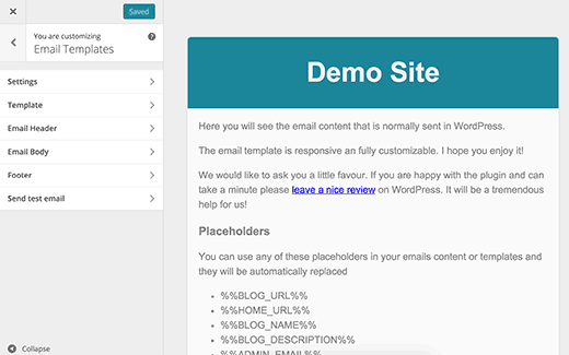 email-template-customizer