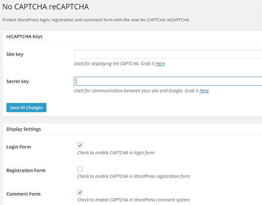 nocaptcha-recaptcha-settings