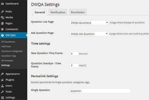 dwqa-settings-general
