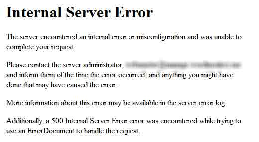 رفع خطای Internal Server Error در وردپرس