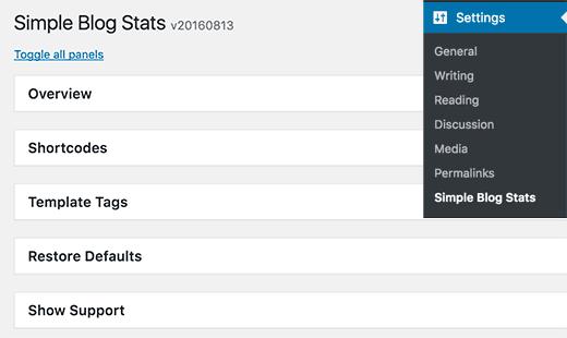 نمایش تعداد کاربران در وردپرس با simple blog stats