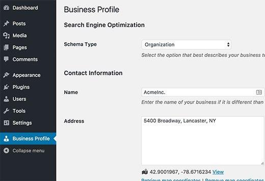 businessprofile-settings