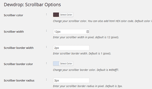 custom-scrollbar-settings