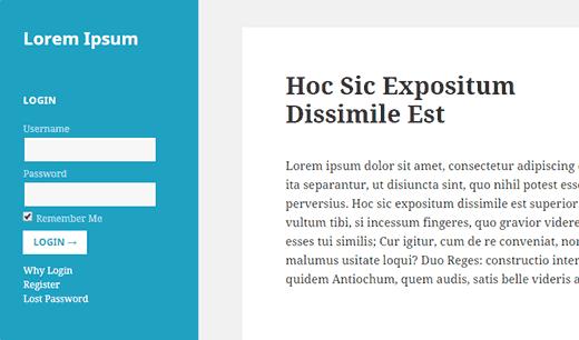 sidebar-login-form-plugin-doctorwp