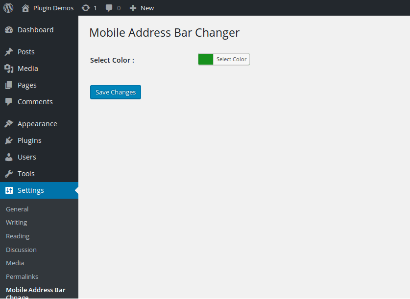 Mobile Address Bar Changer