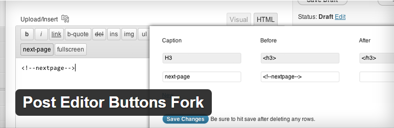 Post Editor Buttons Fork