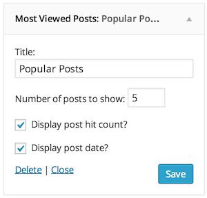 Post Hit Counter widget