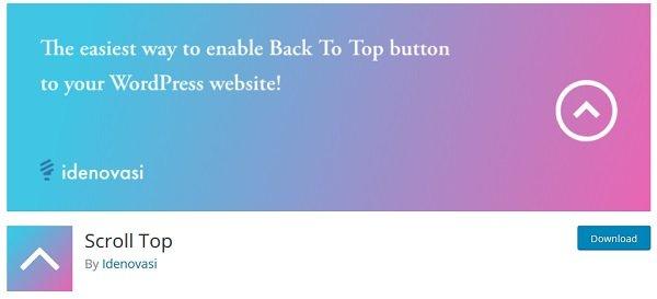 ساخت دکمه بالارونده وردپرس با Scroll Top