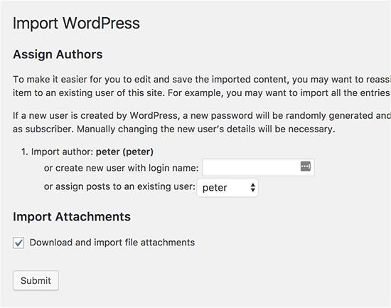 import-settings