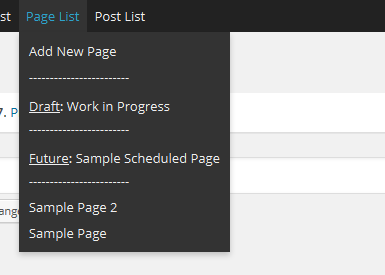 page Edit Toolbar