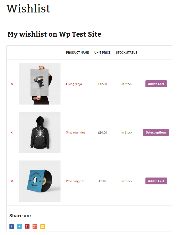 woocommerce-wishlist-page