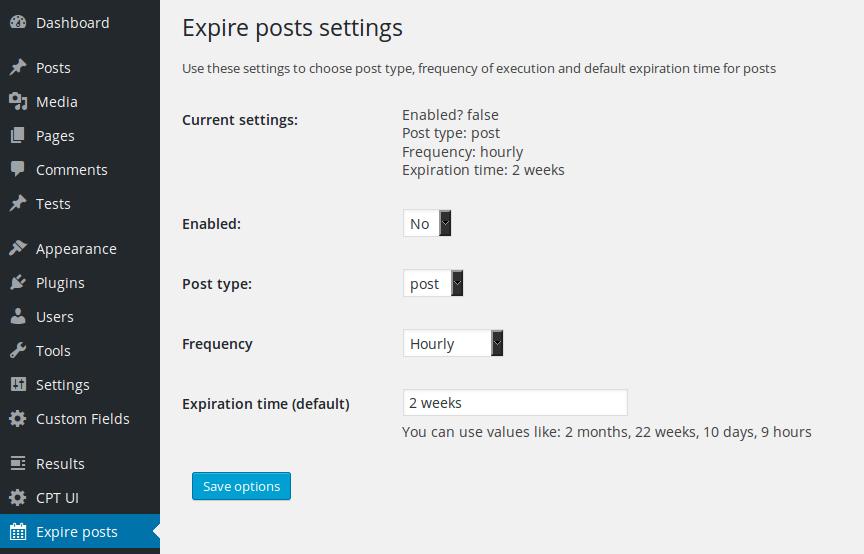 Expire posts