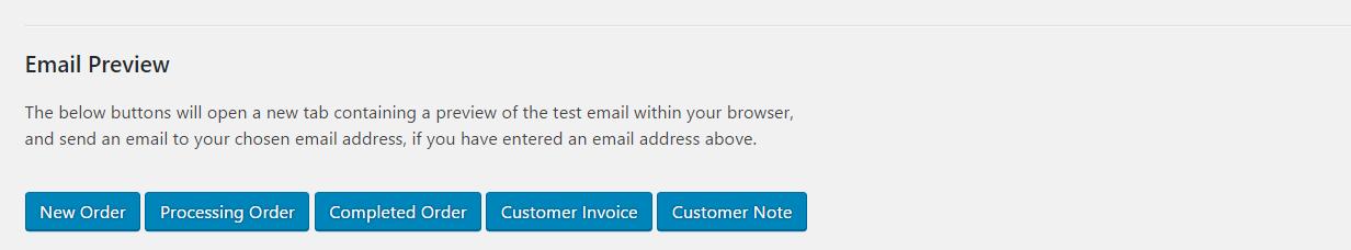 WooCommerce Email Test