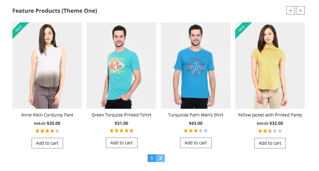 WooCommerce Product Slider preview
