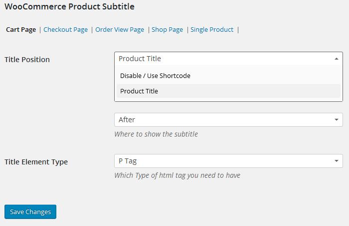 WooCommerce Product Subtitle