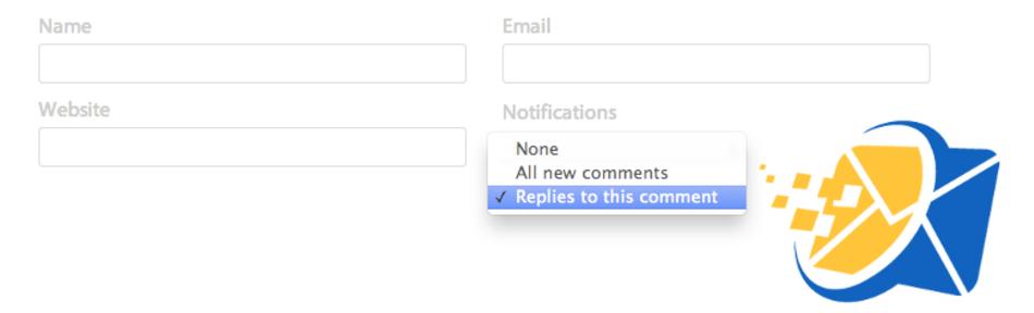 ارسال ایمیل هنگام پاسخ به نظرات وردپرس