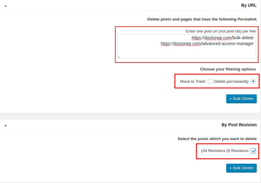 حذف مطالب وردپرس بر اساس آدرس