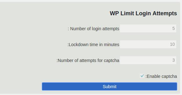 محدودیت در تعداد دفعات ورود وردپرس