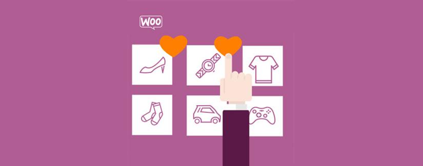 لیست علاقه مندی محصولات ووکامرس