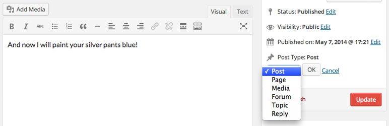 تبدیل نوشته ها و برگه ها در وردپرس با افزونه Post Type Switcher