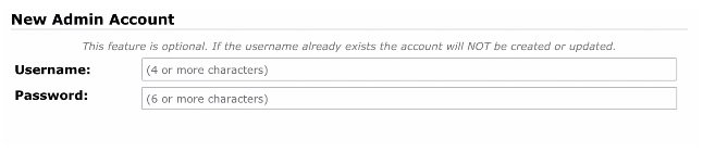 New Admin Account