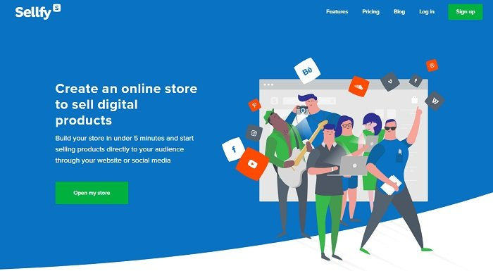 فروشگاه ساز فایل آنلاین sellfy